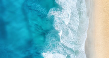 Beach And Waves From Top View....
