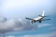 滑空する旅客機