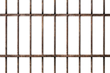 Old Prison Rusted Metal Bars C...
