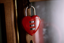 Heart-shaped Padlock With Numb...