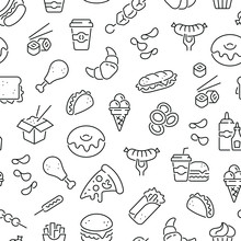 Seamless Pattern With Fast Foo...