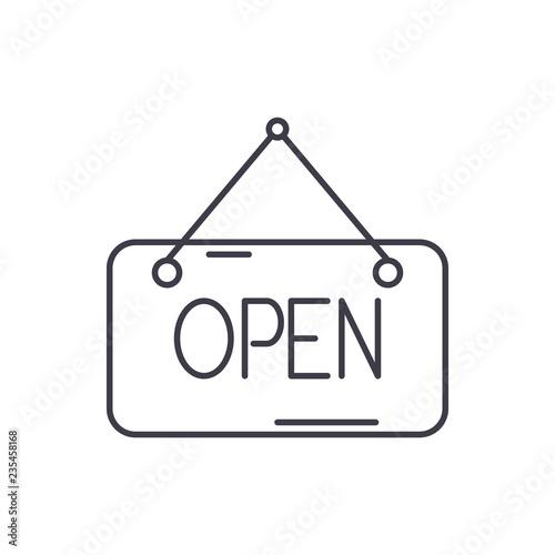 Fényképezés  Open inscription line icon concept