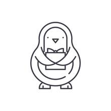 Penguin Line Icon Concept. Pen...
