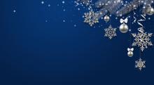 Blue Shiny Festive Background ...