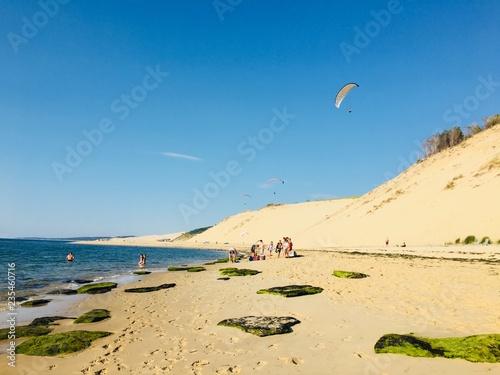 Parapente dune du pila mer bassin d'Arcachon Fototapet