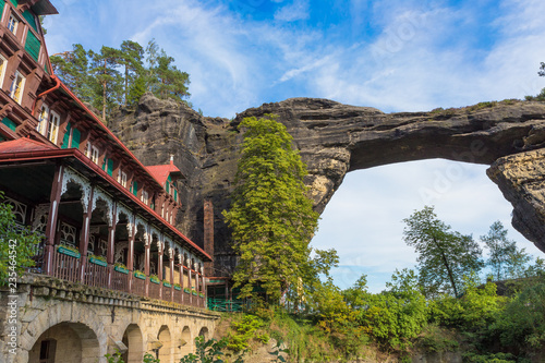 Photo  Czech - Pravcicka Brana - the largest stone arch on the European continent