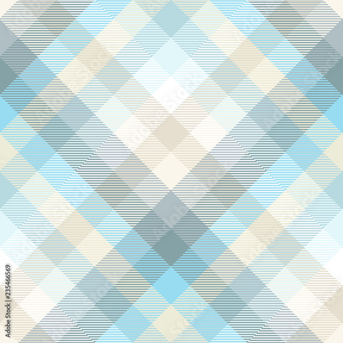 Plaid Pattern In Shades Of Pastel Blue Teal And Tan