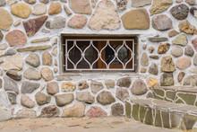 Old Stone Wall And White Latti...