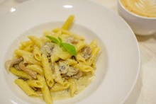 Delicious Pasta With Mushrooms