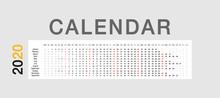 Colorful Calendar Year 2020 Ve...
