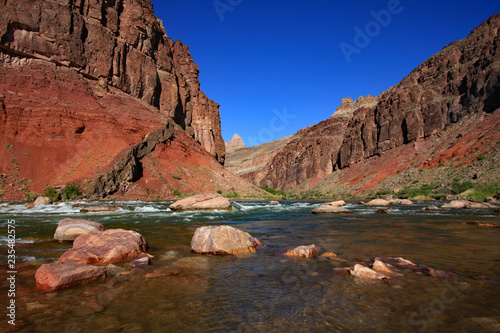 Canvas-taulu Hance Rapids and the Colorado River in Grand Canyon National Park, Arizona