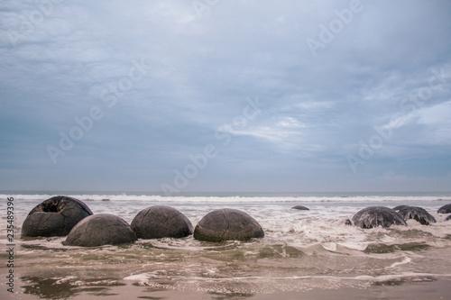 Fotografering Moeraki Boulders in Otago, South Island, New Zealand
