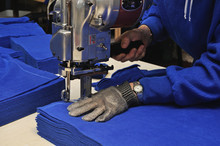 Commercial Textiles Worker Cut...