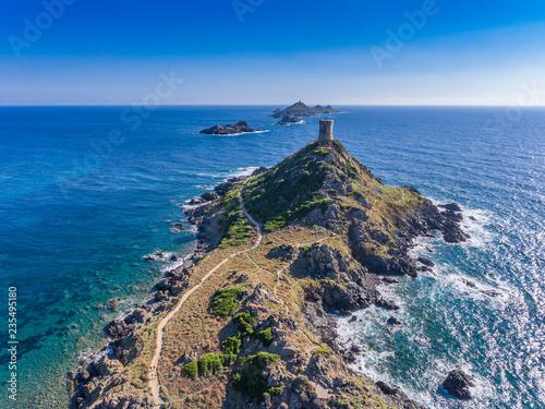 Ile Sanguinaires mit Tour de la Parata im Golf von Ajaccio auf Korsika Canvas Print