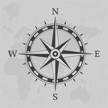 Ancient Compass Vintage On Background Illustration