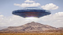 UFO, Science Fiction Scene Wit...