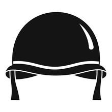 Combat Helmet Icon. Simple Illustration Of Combat Helmet Vector Icon For Web Design Isolated On White Background