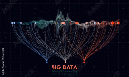 Photo Vector abstract colorful big data information sorting visualization