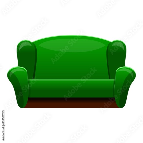 Retro Green Sofa Icon Cartoon Of Retro Green Sofa Vector Icon For