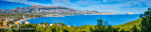A panoramic view of Altea and the Costa Blanca from the Natural Park Serra Gelad Wallpaper Mural