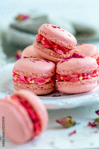 Traditional French pastry. Macarons.