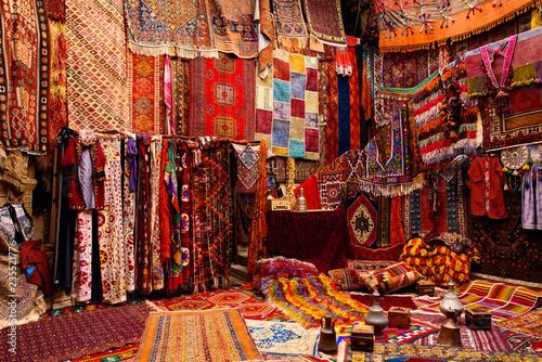 Poster Maroc Turkish carpet market