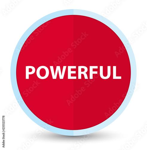 Fotografía  Powerful flat prime red round button