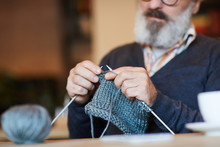 Bearded Grandpa Knitting Warm ...