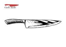 Illustration Of Chef's Knife