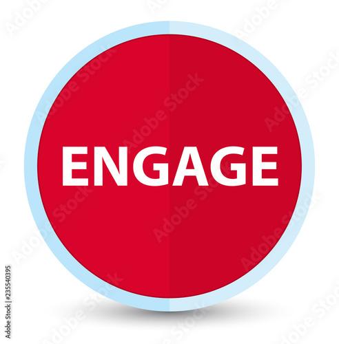 Fotografie, Obraz  Engage flat prime red round button