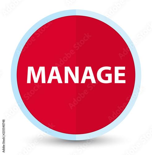 Fotografie, Obraz  Manage flat prime red round button
