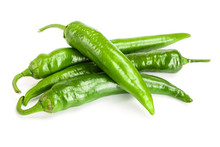 Green Hot Chili Peppers Isolat...