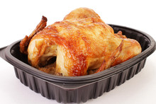 Rotisserie Chicken In Take Out Tray