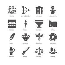 Trireme, Scroll, Amphora, Ligh...