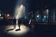 canvas print picture - Antwerpen bei Nacht