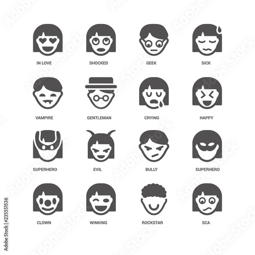 Sca, Happy, Crying, Clown, Superhero, In love, Vampire, Rockstar Canvas Print