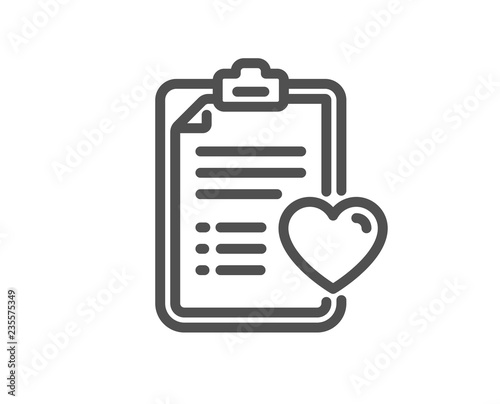 Medical survey line icon Wallpaper Mural