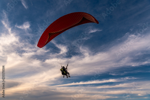 Paragliding at the Torrey Pines Gliderport, La Jolla