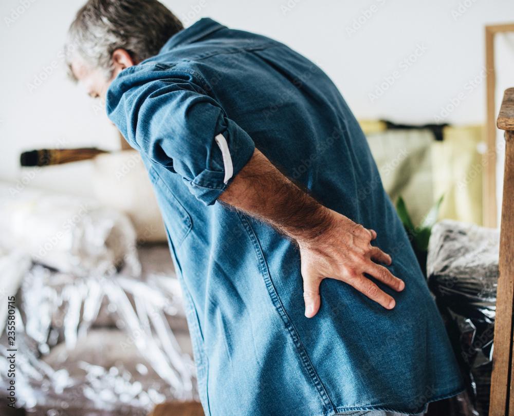 Fototapety, obrazy: Senior man having back pain