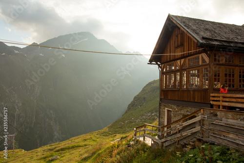 Fotografie, Obraz  Lodge in the Alps