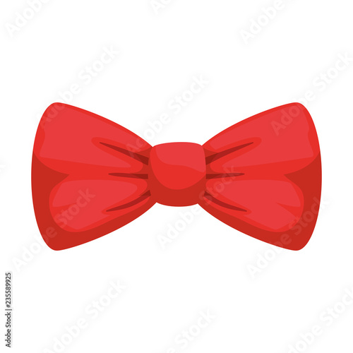 Fotografie, Tablou elegant bowtie accessory icon