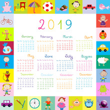 Frame With Toys 2019 Calandar ...