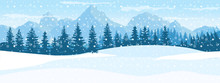 Horizontal Winter Landscape. M...