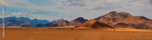 Door stickers Dark grey Namib desert, Namibia Africa landscape