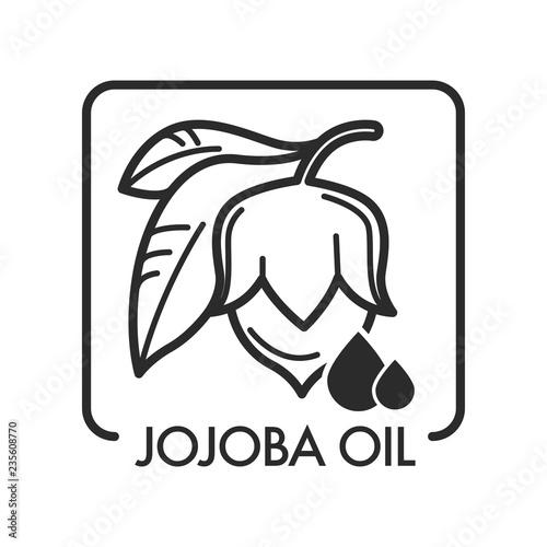 Fototapeta Jojoba oil healing organic natural product for face