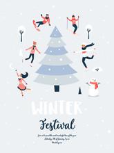 Winter Sport Scene, Christmas Event And Festival