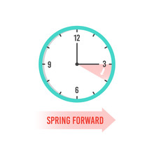 Spring Forward. Clock Showing ...