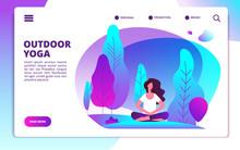 Yoga Landing Page. Woman Doing...