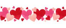 Happy Valentines Day Watercolor Vector Illustration.
