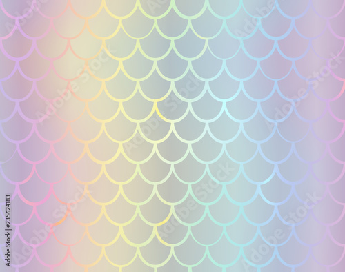 Mermaid Tail Foil Texture Effect Background Vector Iridescent Neon
